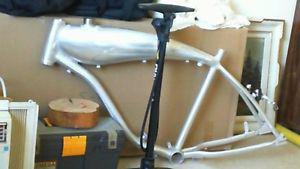bicycle frame with build in gas tank
