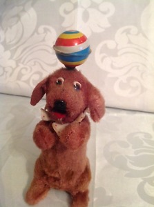 's Wind Up Dog with Ball Toy Made in Japan