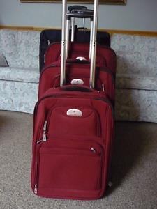 4 Piece Luggage (Air Canada &Samsonite) All Priced