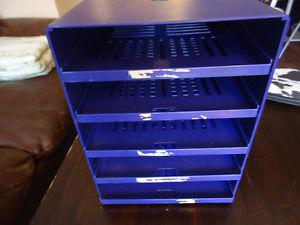 5 Drawers Metal Desk Organizer