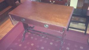 Antique desk with drawer and extensions, $100 obo