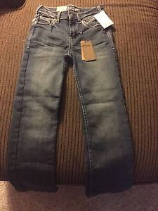 BWT Girls Silver Jeans Sz 6x