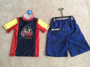 Boys 2 pc Swim Wear,size 6X, Disney - Cars - Lightning