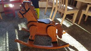 Custom wood rocking horse for sale