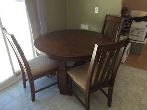 Dining room table with chairs