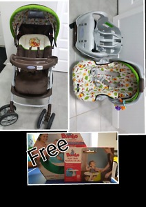 Graco Snugride car seat and Stroller