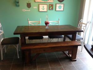 Harvest - Farmhouse Table with bench
