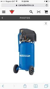 Like New 11 Gallon Mastercraft Air Compressor W extras