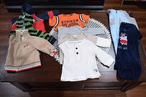 Lot of Baby Boy Clothes - Sizes 6-9 Mths and 9 Mths - 12