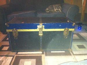 OLD, antique steamer trunk, fair condition, $