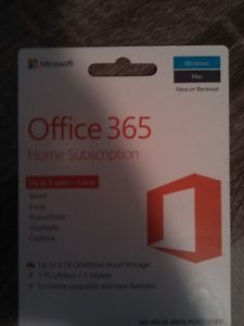 Office 365 - Home Subscription. 5 users - 1 Year.