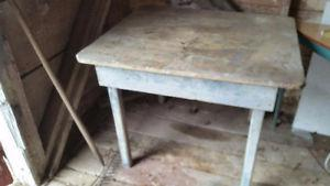 Old dry table found in barn