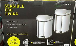 Sensible Eco Living Stainless Steel Touchless Trash Can 2