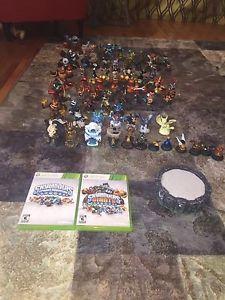 Skylanders spyros adventure/giants game and toys