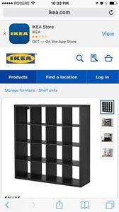 Storage unit black/brown