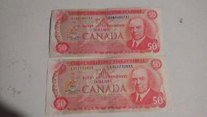 Two $50 dollar Bills