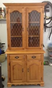 Two Piece Dining display and Storage Cabinet