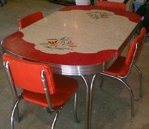 Wanted: Looking for a vintage chrome table with chairs