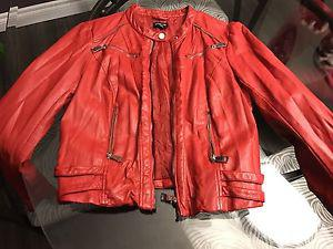 Wanted: Red leather jacket Bebe