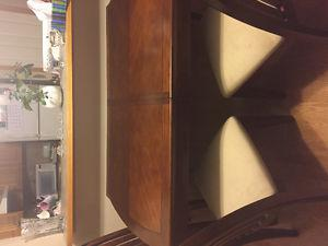 Wooden dinning table set (6 chairs)