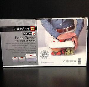 brand new 6 piece kuraidori food savers