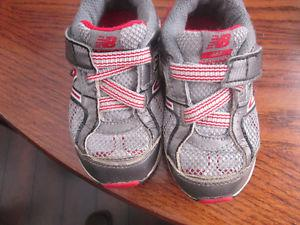 toddler sized New Balance sneakers FLEX and winter boots