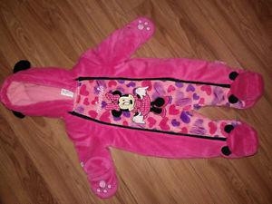 3-6m pink baby snow suit