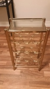 3 row gold wine rack for sale