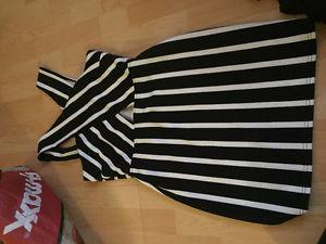 Black and white stripped dress size large