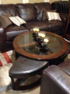 Coffee table set dark espresso