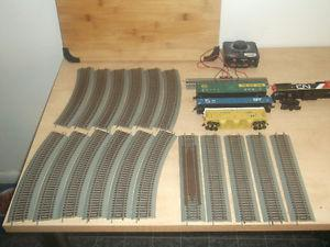 HO scale train rail cars, and pieces....nice decoration as