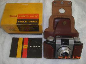 Kodak Pony II Camera 44mm Lens f/3.9 with Leather