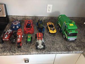Lot of boys toys