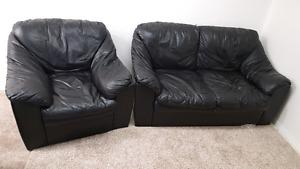 Love seat and a chair