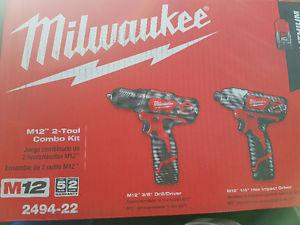 Milwaukee drill/driver and impact driver