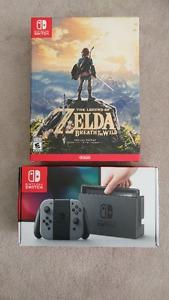 Nintendo Switch Gray + Zelda BOTW Special Edition