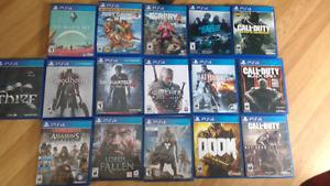 Ps4 Games to trade or sell