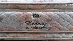 Queen mattresses double side pillow top 180$ box spring 40$.