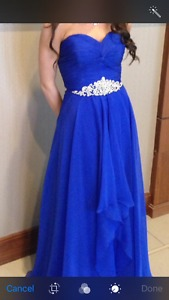Royal Blue Grad Dress