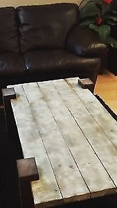 Rustic White Barn Board Coffee Table