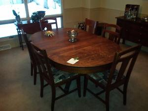 Solid Wood Dining Set- Arts and Crafts Style