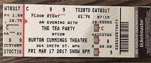 The Tea Party ***FLOOR SEATS***