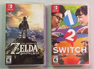 Zelda Breath of the Wild & 1-2 Switch brand new sealed