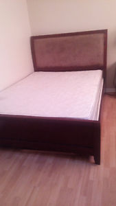 bedroom set with box spring mattress