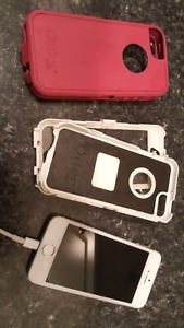 iPhone 5s silver: perfect condition w/ otterbox case