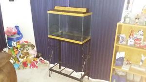 20 Gallon Fish Tank w/ Stand & New Heater