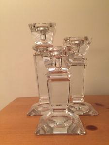 3-Piece Crystal Candel Holder Set