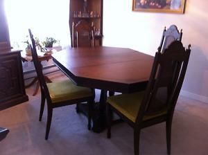 6 pcs oak dining set