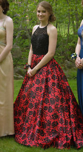 Beautiful Black and Red Sherri Hill Prom Dress For Sale,