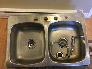 Counter top and sink